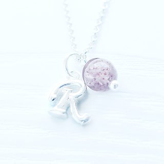 INITIAL -Tailormade 3D Alphabet Silver Necklace Crystal Gift