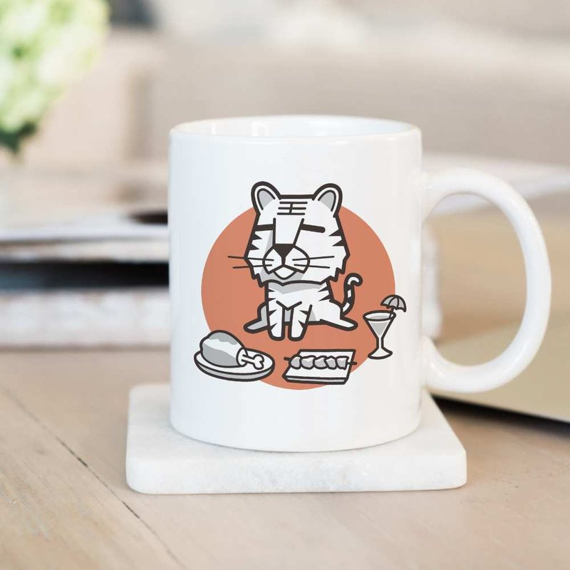 Lazy energy [虎] 12 Zodiac mugs / customizable text