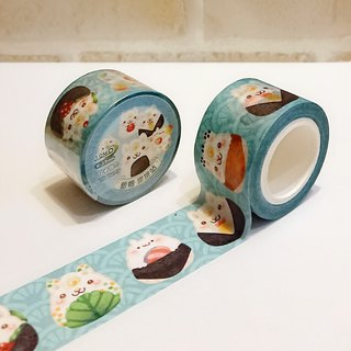 2.5cm and paper tape - rice ball / row station