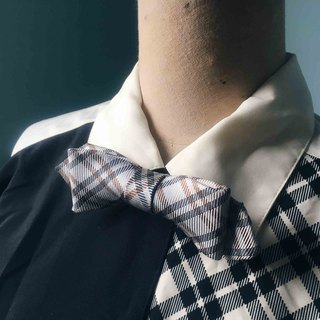 Papa's Bow Tie- Antique Cloth Tie Tie Handmade Bow Tie - Plaid Gentleman - Narrow Edition