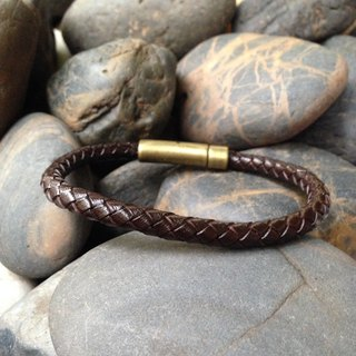 Brown Weave Leather Bracelet