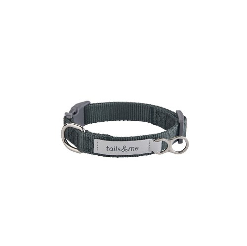 [tail and me] classic nylon collar with dark green M