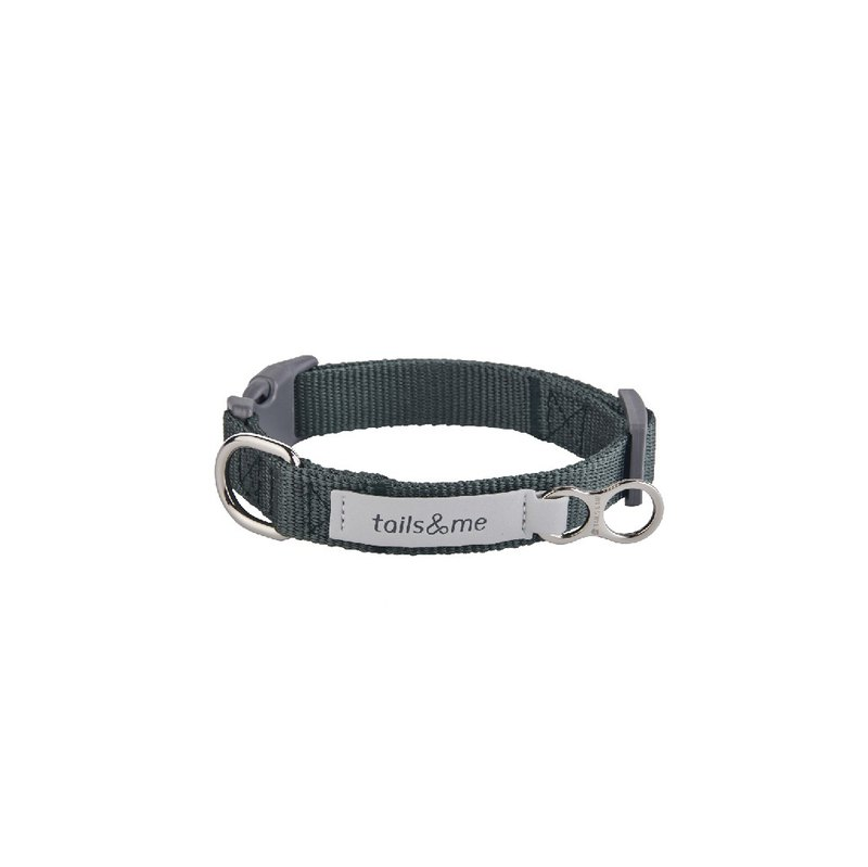 [Tail and me] classic nylon collar collar green M