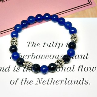 Natural stone X alloy bracelet _ sky blue => limited X1 #中性# boyfriend gift # father's day gift