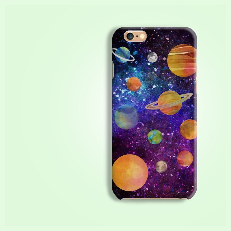 solar system planet Matt finishes rigid hard Phone Case iphone X 5 5S 6 6S 7+ 8