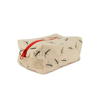 Canada fluf organic cotton [straight travel sports bag]--paper aircraft