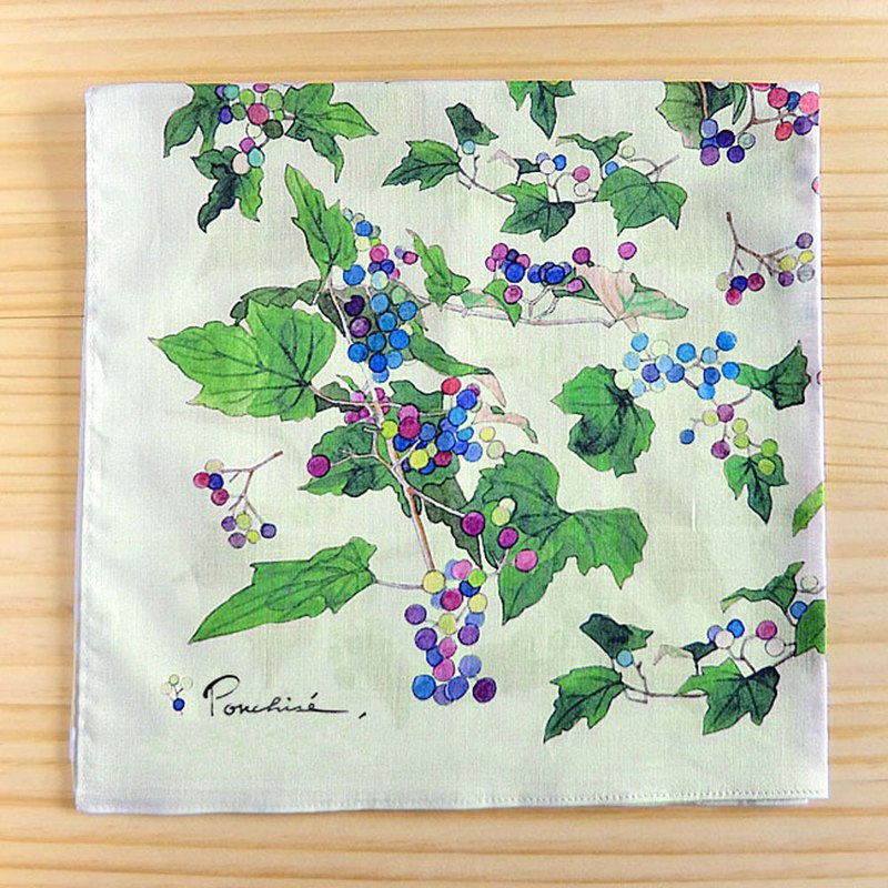 Wild grape handkerchief