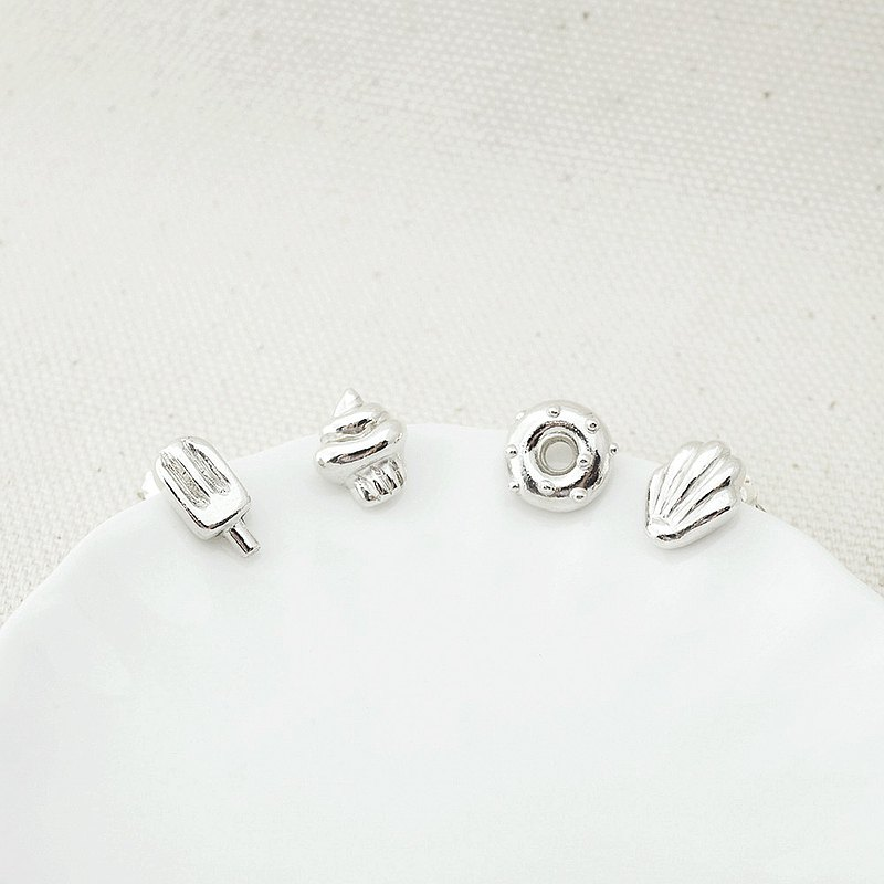 Happy Tea Time Sterling Silver Earring