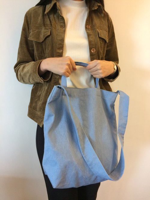 Summer dawn 2way blue washed canvas bag only this one