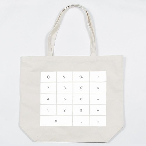 Canvas bag calculator tote bag