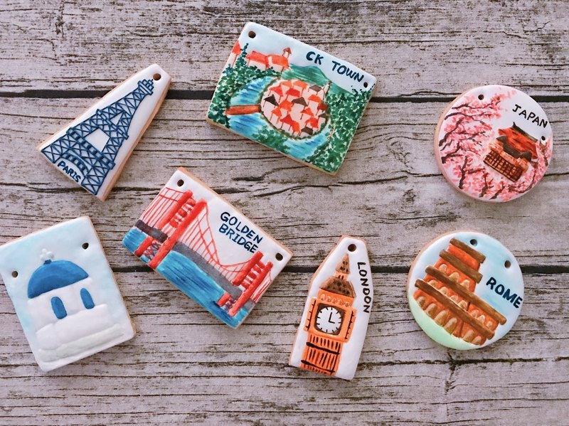 Buyer cuteapple31 scenery 12 pieces of biscuits subscript area