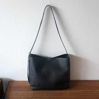Mini Shoulder Leather Bag / Black Cross-body Leather Bag