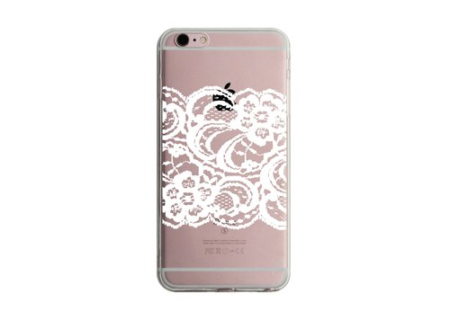 Custom white lace transparent Samsung S5 S6 S7 note4 note5 iPhone 5 5s 6 6s 6 plus 7 7 plus ASUS HTC m9 Sony LG g4 g5 v10 phone shell mobile phone sets phone shell phonecase
