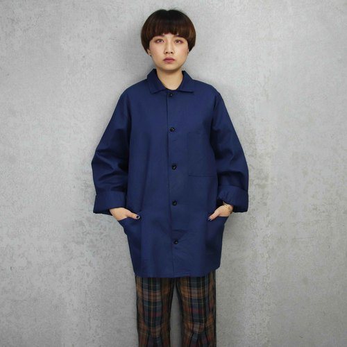 Tsubasa.Y Vintage Dress Shirt 018, French Workers Jacket