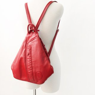 Vintage Leather European Cute Red Backpack Backpack Backpack Vintage European Bag