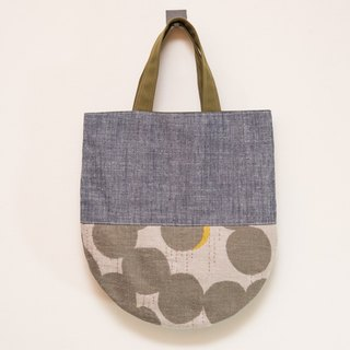 Japan wafting smell ㄦ - handmade cotton bag - tannin-dyed x melange EH59