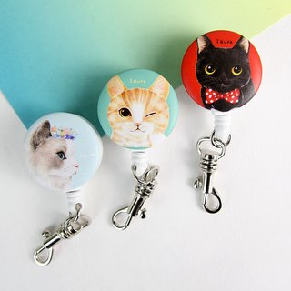i good clip clip retractable ticket documents painted wind series - Persian cat Series & Meeks & Black Cat (three)