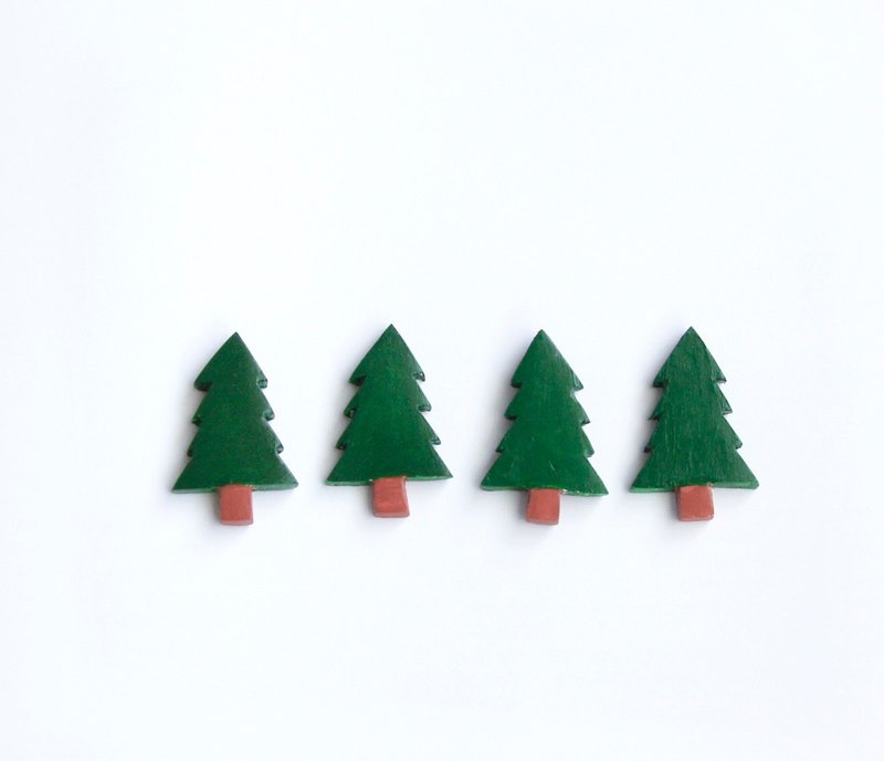 Small landscape series. Tree brooch