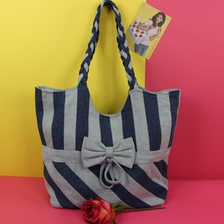 Cheerful Companions Denim Shoulder Bag
