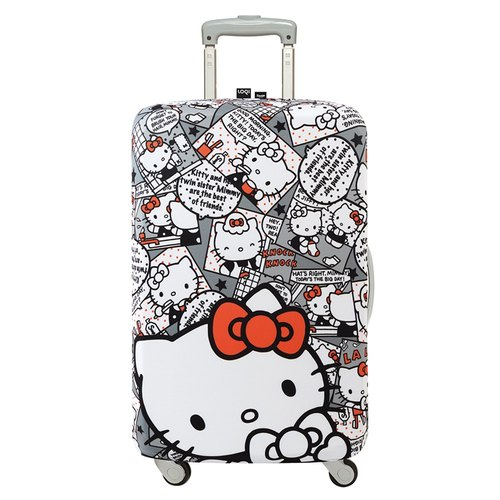 LOQI luggage jacket / KITTY cartoon gray 【L】