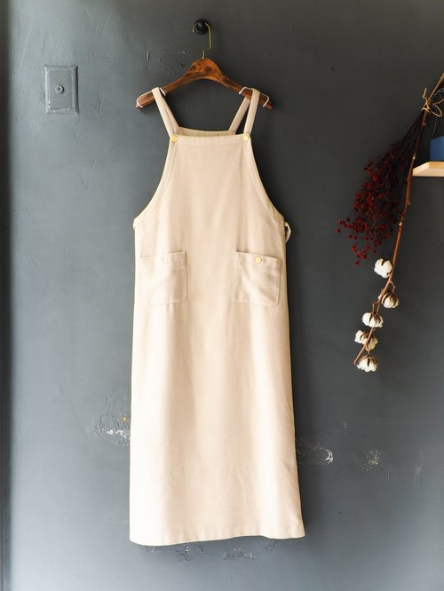 River Hill - Warm Spring Apricot Yellow Youth Log Antique Cotton Sweat Dresses overalls oversize vintage denim
