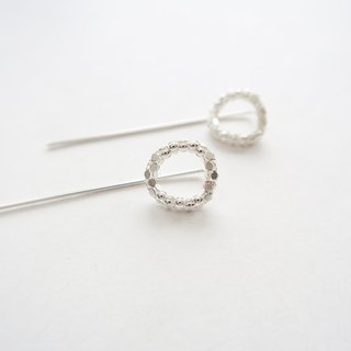 925 sterling silver Galaxy Q-ring earrings or pair of ear clips / Pinkoi Exclusively Sold