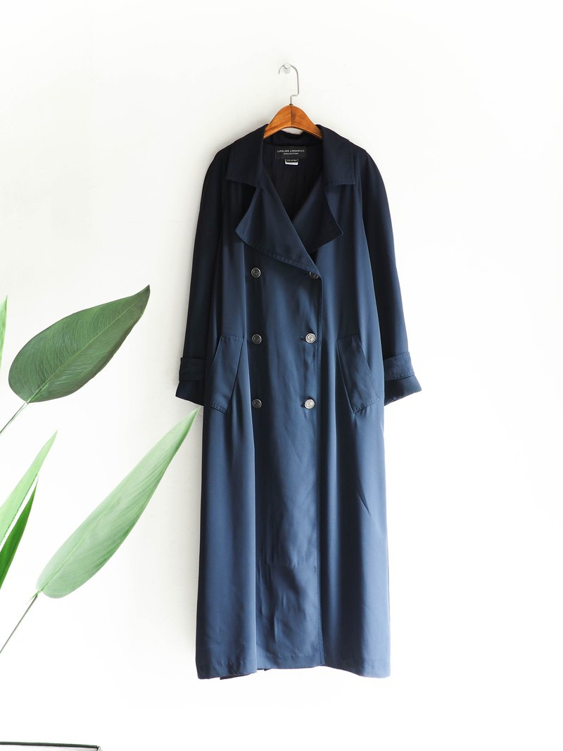 River - Hiroshima dark blue talented girl antique thin thin trench coat coat trench_coat dustcoat jacket coat oversize vintage