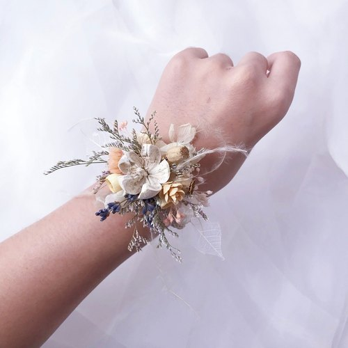 Wrist flower - FLORA FLWOER DRY Wrist flower (one / share) / Bridesmaid wrist flower