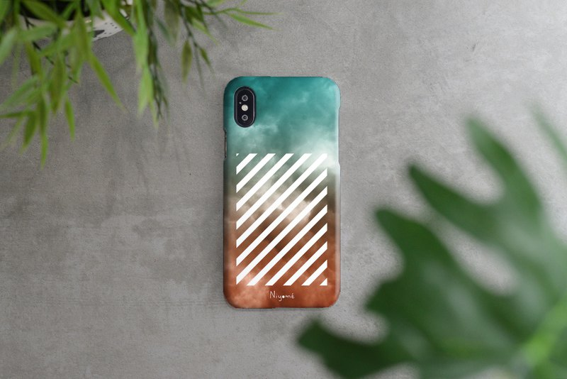 iphone case blue and brown sky for iphone5s, 6s, 6s plus, 7, 7+, 8, 8+, iphone x