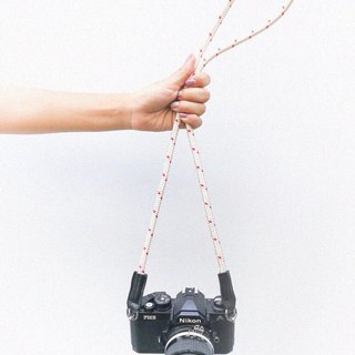 Troopers Camera Strap White Polka dots