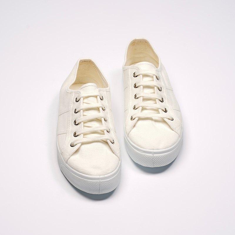 西班牙國民帆布鞋 CIENTA 15997 05 白色  經典布料 大人 繫帶款