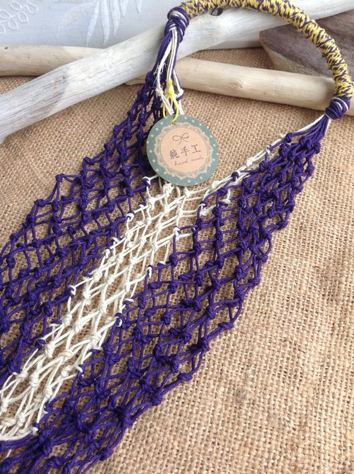 American twine hand woven bags / original linen and temperament purple / bottle / hand cup
