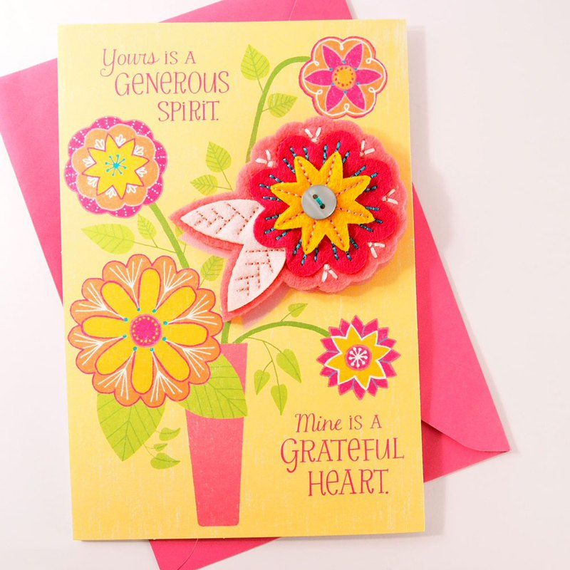 A heart of gratitude [Hallmark-Signature classic hand-series infinite thanks]