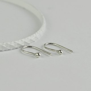 Hook Silver Bead Earrings in Sterling Silver