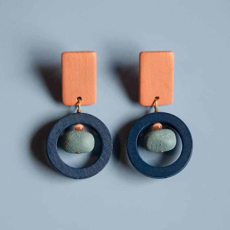 Space Age - Matte Rock Earrings