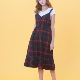 KB spring and summer check wear two vest skirt