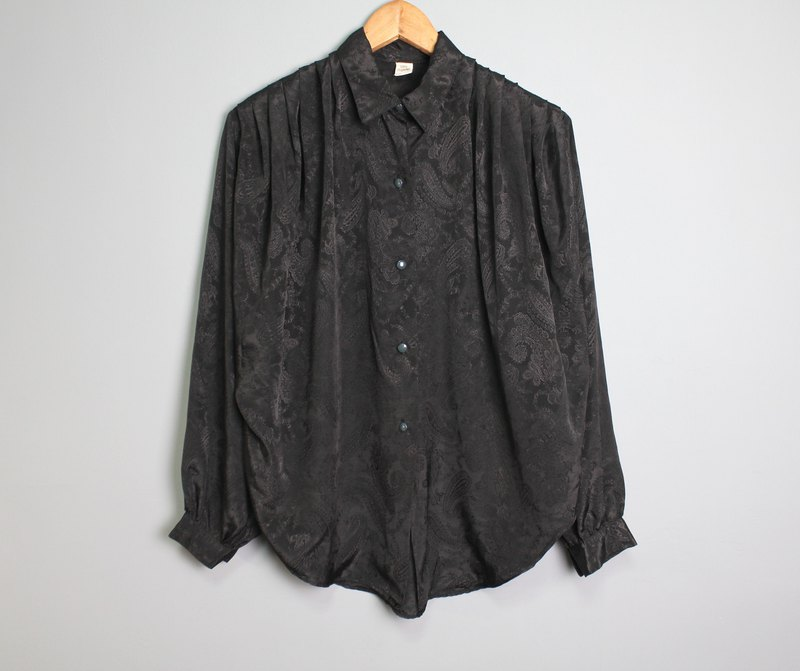 FOAK vintage french black amethyst shirt