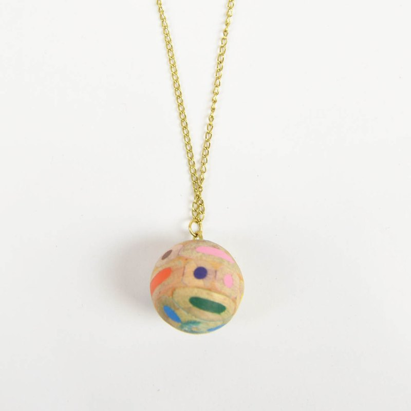 Recycle Colored Pencil Necklace _ Ball _ Fair Trade