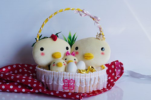 Bucute wedding the way chicken / Global Limited / wedding gift / handmade / married into the house / marriage married / cute