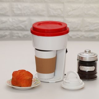 One Cup Single Serve Filter Coffee Maker Machine incl Travel PP Mug -