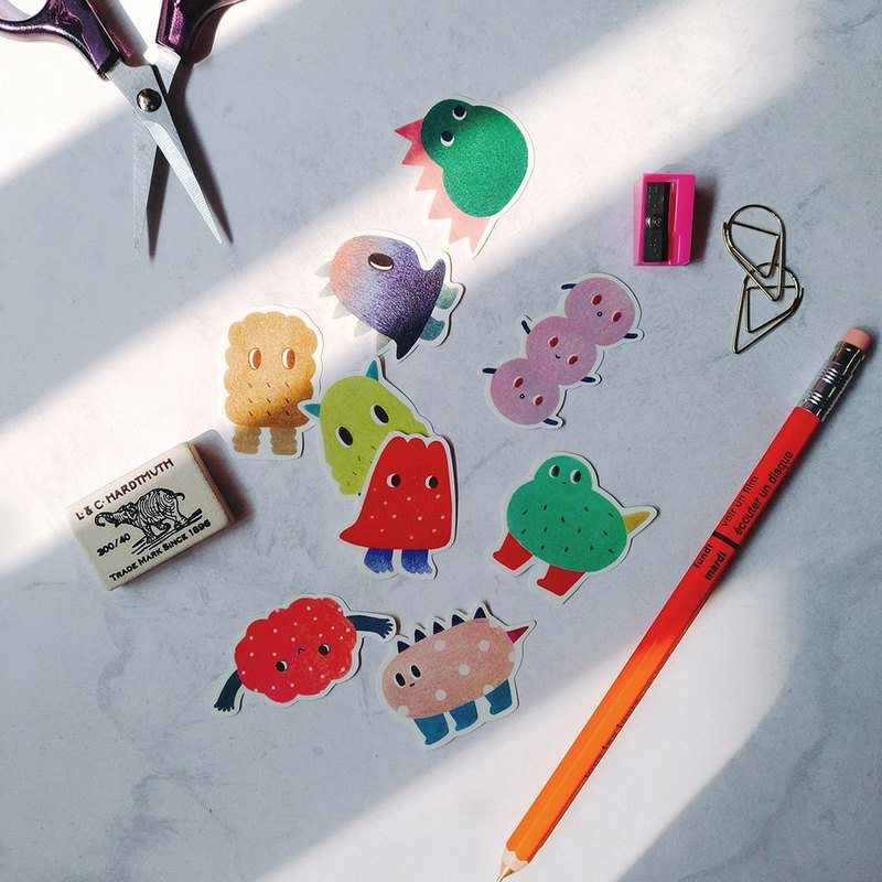 Monster 2 Sticker Set (9 In/Waterproof)