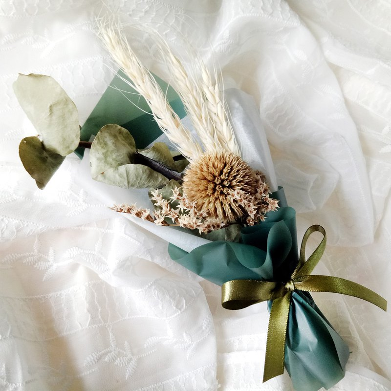 Mountain Wind Eucalyptus Wheat Mini Bouquet Valentine's Day / Teacher's Day / Birthday Celebration