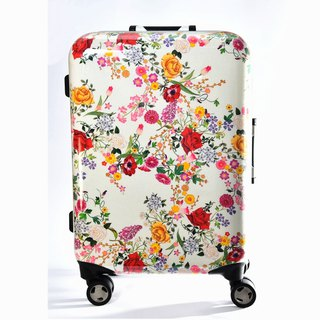 Flower contends - hand-printed fashion aluminum frame 20 吋 suitcase / suitcase