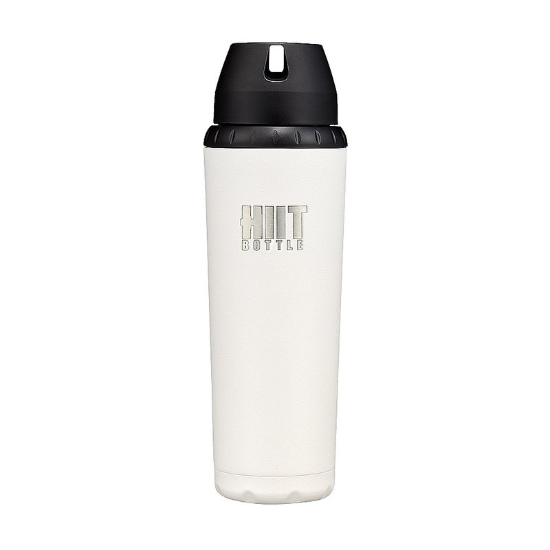 American HIIT BOTTLE Extreme Fitness Water Bottle / Jane Edition / White / 709ml