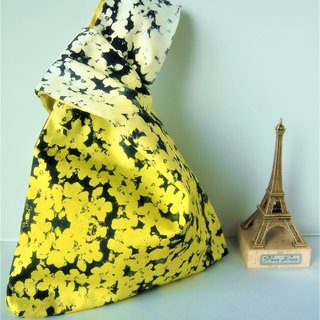 Knot Bag (Double-sided: Gradient Print x Shocking Yellow)