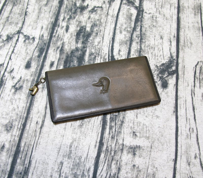 Back to Green::Gallant Duck Duke Duchess Brown Vintage Wallet (WT-64)