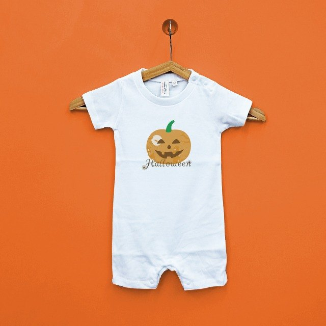 Halloween Halloween parent-child baby Japanese cotton soft short-sleeved bag fart