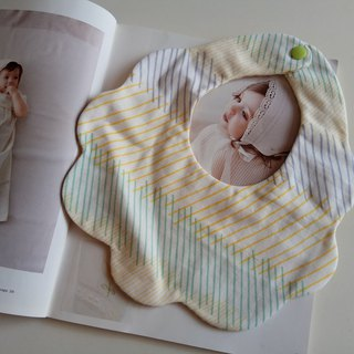 Japanese cotton gauze color line cotton yarn cloud bib bimonthly gift bib baby bibs baby bibs saliva towel six-layer yarn eight-layer yarn
