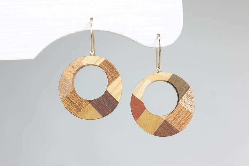 New Parquet Round Earrings
