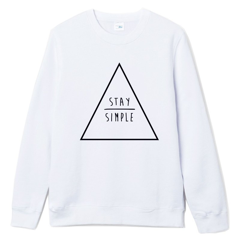 STAY SIMPLE Triangle (Spot) University T bristles white to maintain simple triangle geometric design their own brand trendy circle Youth Hipster